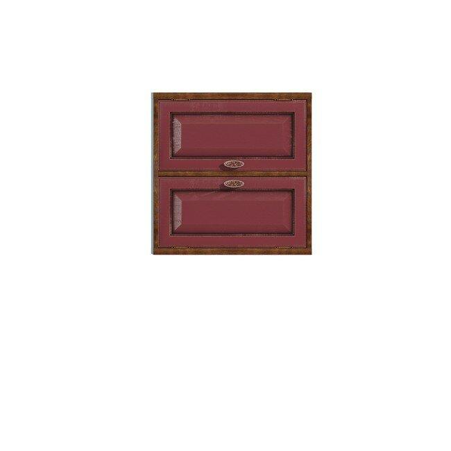 Гостиная Диего (Барокко), Полка двойная горизонтальная СВ-363 Диего (Барокко) бордоДуб бордо<br>Двойная полка из шпона ясеня и дуба. Задняя стенка в цвете: ясень беленый.<br><br>Цвет корпуса: Ясень тонированный<br>Цвет фасада: Дуб бордо<br>Скидка: 30%
