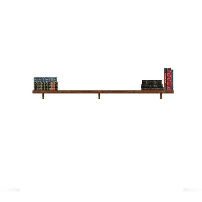 Диего, Полка открытая, СВ-365Дуб черный<br>Полка длиной 1560 мм из шпона ясеня. правильно дополнит композицию.<br>
