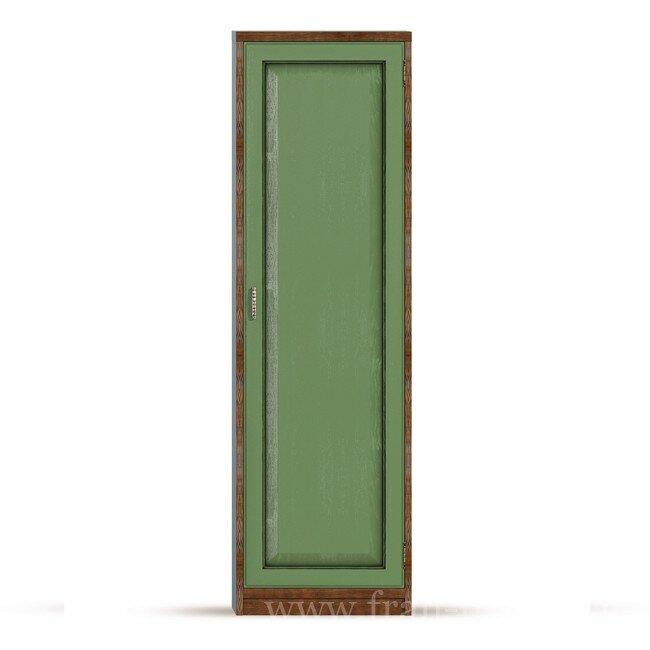 Гостиная Диего (Барокко), Шкаф универсальный СВ-360 Диего (Барокко) зеленыйДуб зеленый<br>Шкаф из шпона ясеня и дуба комплектуется пятью полками, при желании полки можно убрать и повесить штангу для вешалок, которая входит в стоимость шкафа.<br><br>Цвет корпуса: Ясень тонированный<br>Цвет фасада: Дуб зеленый<br>Скидка: None