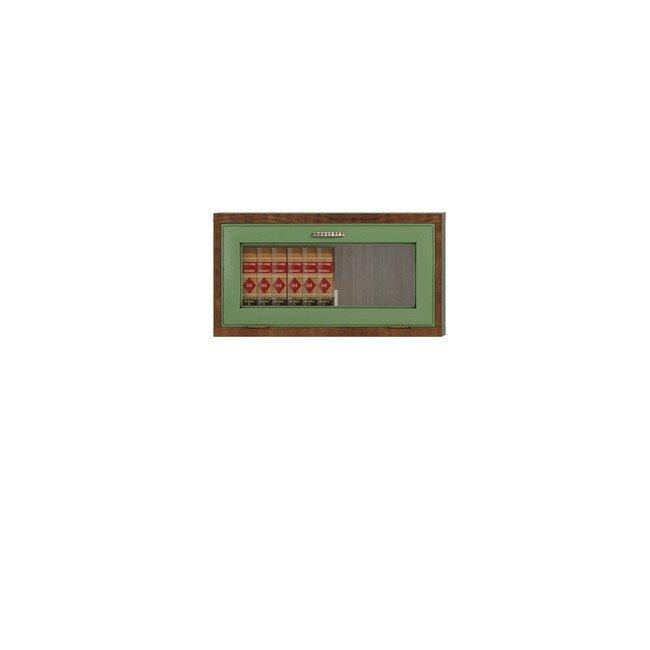 Диего, Витрина горизонтальная, СВ-362ВДуб зеленый<br>Небольшая витрина из шпона ясеня и дуба. Задняя стенка в цвете: ясень беленый.<br>