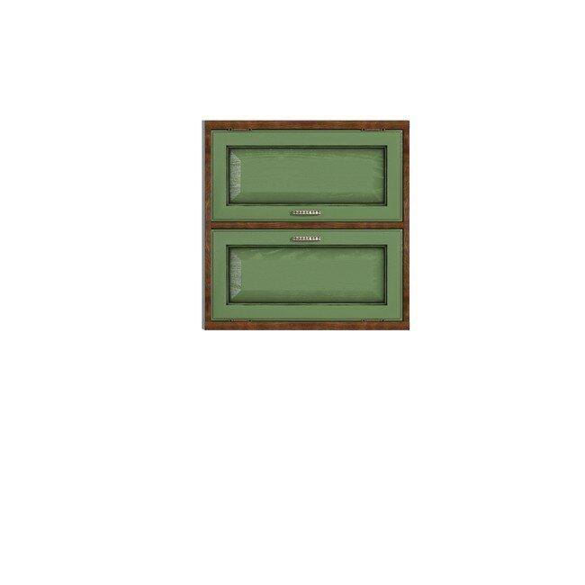 Диего, Полка двойная горизонтальная, СВ-363Дуб зеленый<br>Двойная полка из шпона ясеня и дуба. Задняя стенка в цвете: ясень беленый.<br>