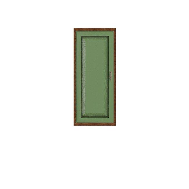 Диего, Полка вертикальная, СВ-364Дуб зеленый<br>Вертикальная полка из шпона ясеня и дуба. Задняя стенка в цвете: ясень беленый.<br>