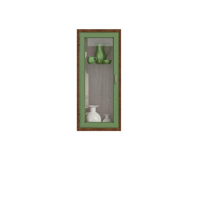 Гостиная Диего, Витрина вертикальная, СВ-364В Дуб зеленый