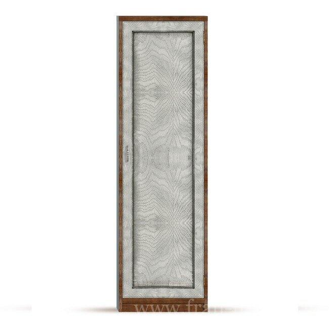 Гостиная Диего (Барокко), Шкаф универсальный СВ-360 Диего (Барокко) белыйДуб белый<br>Шкаф из шпона ясеня и дуба комплектуется пятью полками, при желании полки можно убрать и повесить штангу для вешалок, которая входит в стоимость шкафа.<br><br>Цвет корпуса: Ясень тонированный<br>Цвет фасада: Дуб белый<br>Скидка: 30%