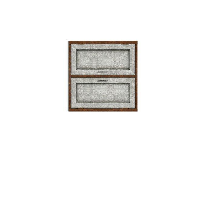 Диего, Полка двойная горизонтальная, СВ-363Дуб белый<br>Двойная полка из шпона ясеня и дуба. Задняя стенка в цвете: ясень беленый.<br>