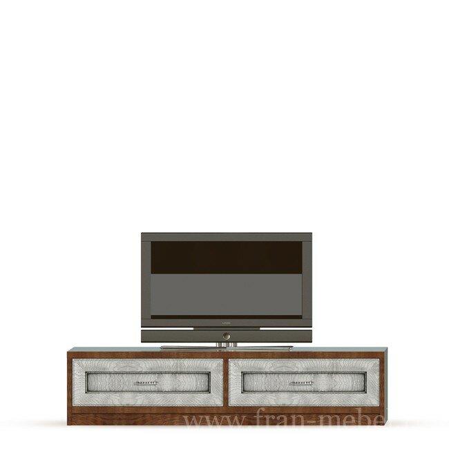 Диего, Тумба (2 ящика), СВ-369Дуб белый<br>Тумба в выдвижными ящиками из шпона ясеня и дуба. Ящики с доводчиками. На тумбу можно поставить телевизор с диагональю до 60 дюймов. Днище ящиков в цвете ясень беленый.<br>