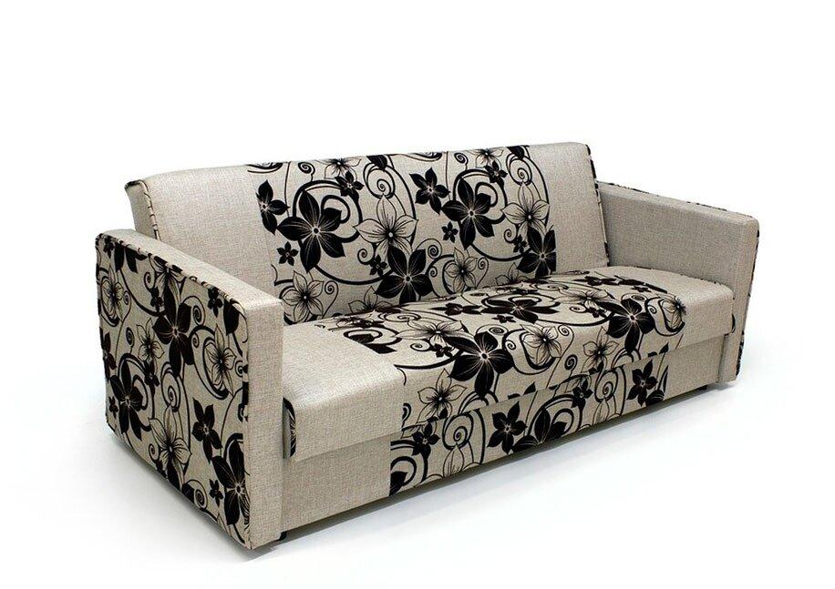 Диван ТайфунElegance Beige<br>Помимо привлекательного вида и демократичной стоимости, данная модель спального дивана обладает продуманной конструкцией и максимальным удобством. Вы можете приобрести ее как себе домой, так и в деловой офис, зал ресторана, холл отеля - цвет и материал обивки подходит под интерьер любого помещения. Диван со спальным местом Тайфун рассчитан на удобный отдых двух человек. В разложенном виде габариты модели составляют 1200 на 1860 см. Вы можете быть уверены в том, что ваш сон будет здоровым и крепким.<br>