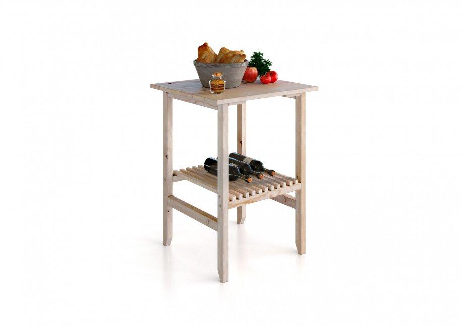 Столы, Стол Карелия МС-30Сосна<br>Садовый стол Карелия изготовлен из массива сосны с лаконичным дизайном в стиле кантри. Все элементы стола отполированы до гладкости, а текстура древесины придаст интерьеру веранды или беседки особый домашний уют. Главным украшением стола является специальная полочка, набранная из тщательно подогнанных маленьких дощечек. Столик может использоваться как журнальный или же кофейный. Этот столик сделан исключительно ручными инструментами, из экологически чистого материала – древесины сосны. Этот материал прочен, устойчив к различным жизненным перипетиям, и к тому же обладает красивой натуральной текстурой, которая хорошо проявляется при обработке.<br>ВНИМАНИЕ!  Перед началом эксплуатации вне помещений, необходимо обработать деревянные части мебели специализированными защитными составами!<br><br>Цвет корпуса: Сосна карельская<br>Скидка: 60%