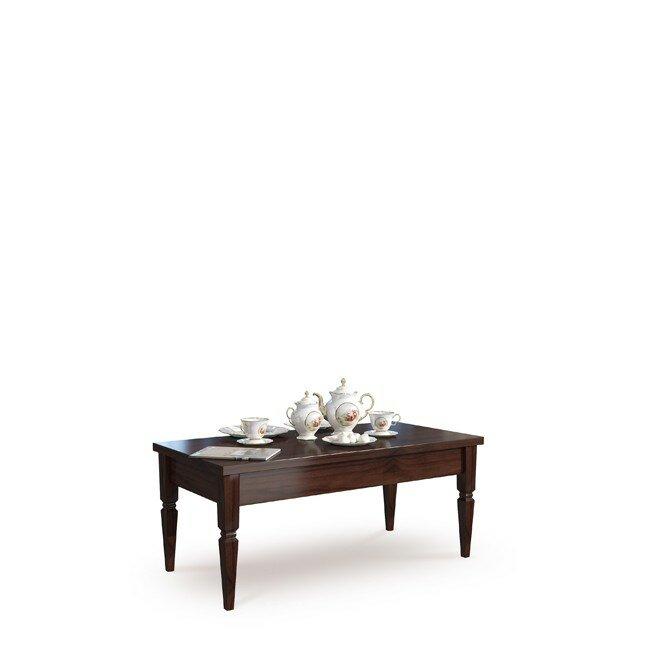 Гостиная Гавана (Лофт), Журнальный столик СВ-319 Гавана (Лофт) шоколадГорький шоколад<br>Журнальный столик на элегантных ножках. Выполняется из массива бука.<br><br>Цвет корпуса: Бук тирольский<br>Цвет фасада: Горький шоколад<br>Скидка: 30%