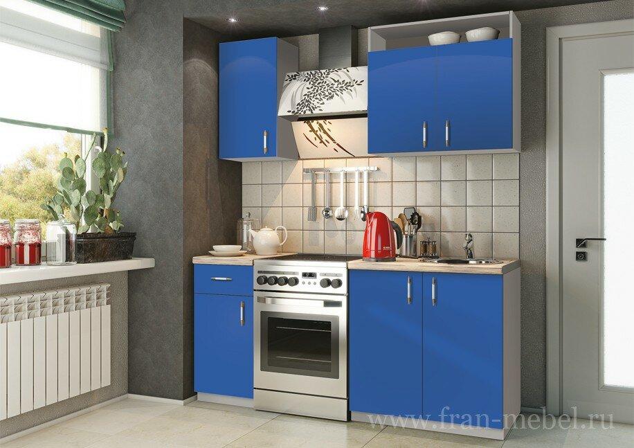 Кухонный гарнитур София синяя
