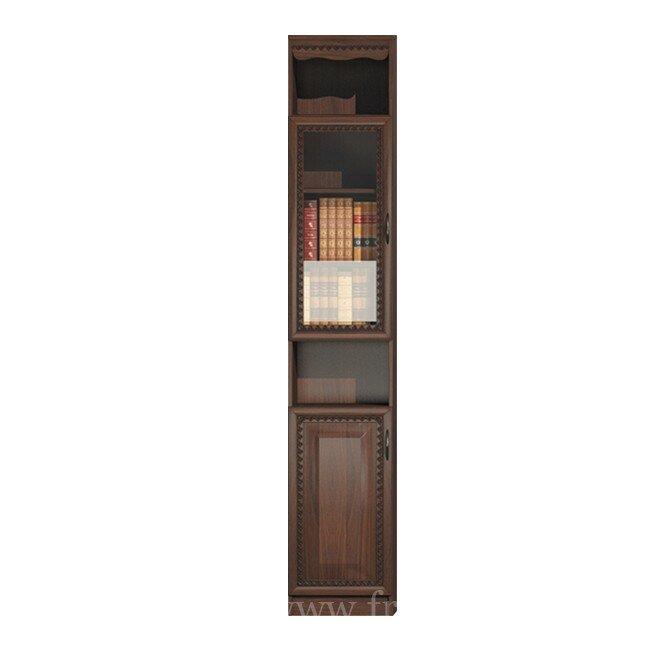 Гостиная Эльза (Классика), Колонка-витрина СВ-424 Эльза (Классика) орехОрех темный<br>Небольшая витрина, подойдет для книг и разных сувениров.<br><br>Цвет корпуса: Орех тёмный<br>Скидка: 30%