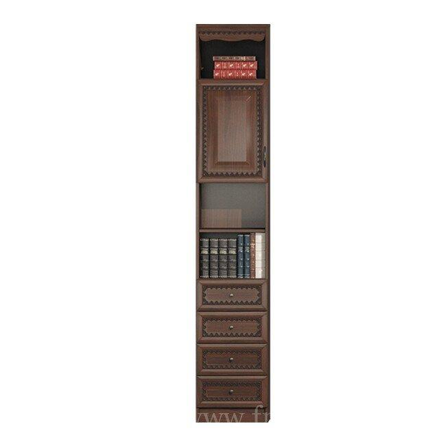Эльза, Колонка, СВ-425Орех темный<br>Оригинальная колонка с четырьмя выдвижными ящиками и одной дверцей.<br>