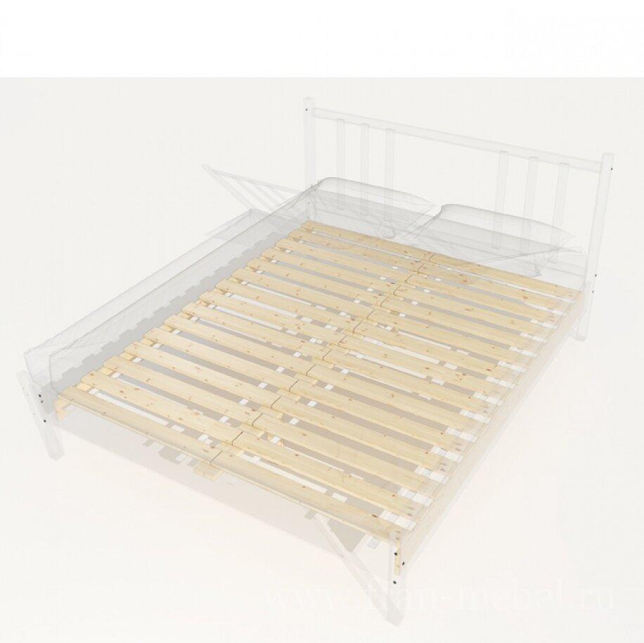 Основание для кроватей, Основание для кровати 1600 СоснаСосна<br>Основание из сосновых ламелий подходит к кроватям со спальным местом размером: 1600 х 2000 мм.<br><br>Цвет корпуса: Массив сосны<br>Скидка: None
