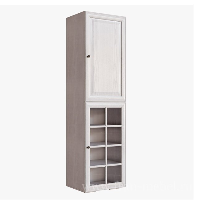 Гавана, Стеллаж-витрина, СВ-315/3Дуб беленый<br>Внутренний светильник продается отдельно. Двери с бесшумным и плавным закрытием.<br>