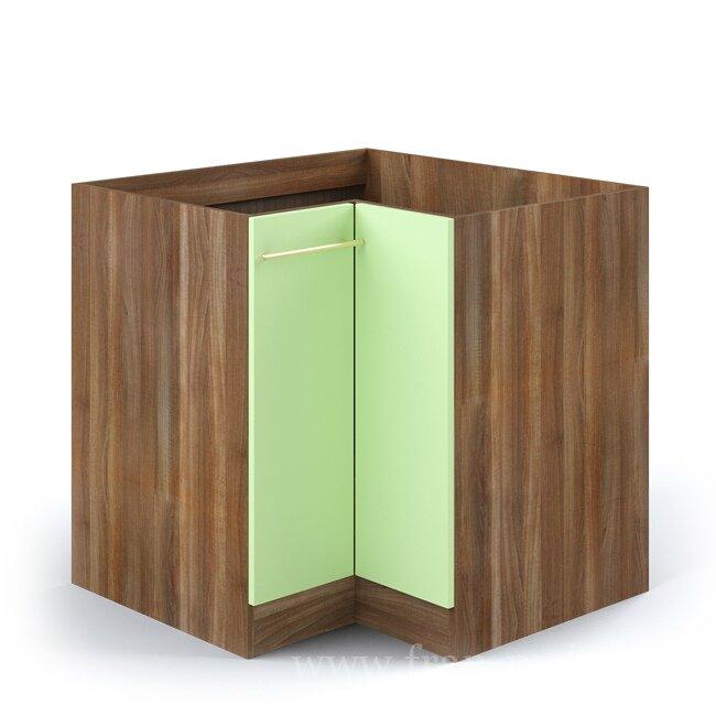 Кухня Арина (Стиль), Стол угловой, СУ-88/82 Ноче марино/СалатовыйНоче марино/салатовая<br>Универсальный угловой стол. Внутри большое отделение для хранения бытовой химии или мусорного ведра. На данный стол очень часто монтируют врезную мойку. Глубина бока данного стола: 580 мм.<br><br>Цвет корпуса: Ноче марино<br>Цвет фасада: Салатовый<br>Скидка: 50%