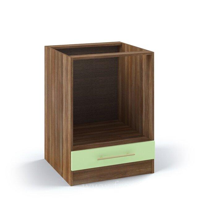 Кухня Арина (Стиль), Стол под духовку, СД-60/82 Ноче марино/СалатовыйНоче марино/салатовая<br>В данный стол можно встроить духовой шкаф шириной 60 см. На сам стол часто врезают в столешницу варочную панель.<br><br>Цвет корпуса: Ноче марино<br>Цвет фасада: Салатовый<br>Скидка: 50%
