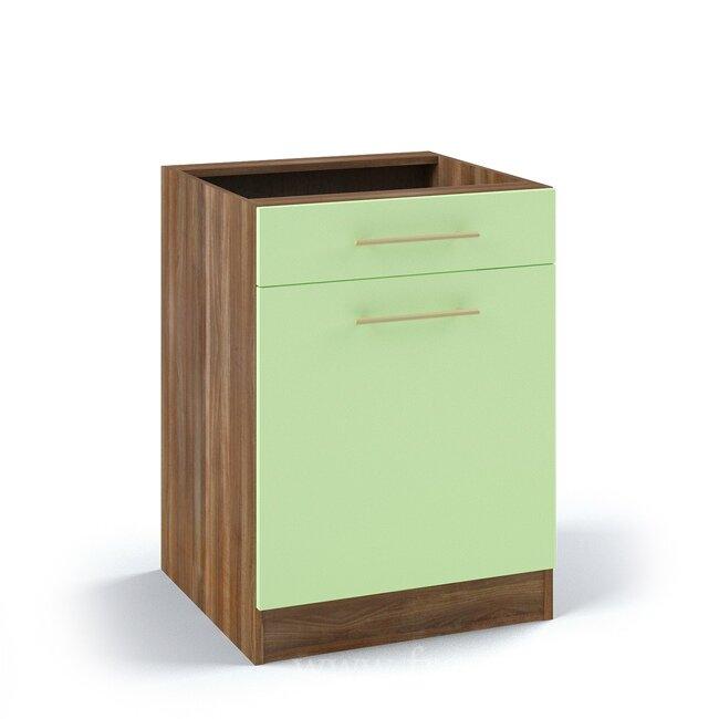 Кухня Арина (Стиль), Стол, С3/1-60/82 Ноче марино/СалатовыйНоче марино/салатовая<br>Стол с одним выдвижным ящиком. Длина 60 см.<br><br>Цвет корпуса: Ноче марино<br>Цвет фасада: Салатовый<br>Скидка: 54%