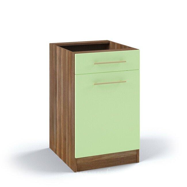 Кухня Арина (Стиль), Стол, С5/1-50/82 Ноче марино/СалатовыйНоче марино/салатовая<br>Стол длиной 50 см с выдвижным ящиком.<br><br>Цвет корпуса: Ноче марино<br>Цвет фасада: Салатовый<br>Скидка: 50%