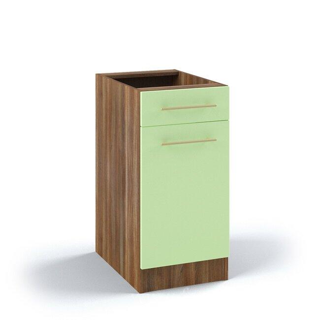 Кухня Арина (Стиль), Стол, С7/1-40/82 Ноче марино/СалатовыйНоче марино/салатовая<br>Стол длиной 40 см с одним выдвижным ящиком для хранения столовых приборов.<br><br>Цвет корпуса: Ноче марино<br>Цвет фасада: Салатовый<br>Скидка: 54%