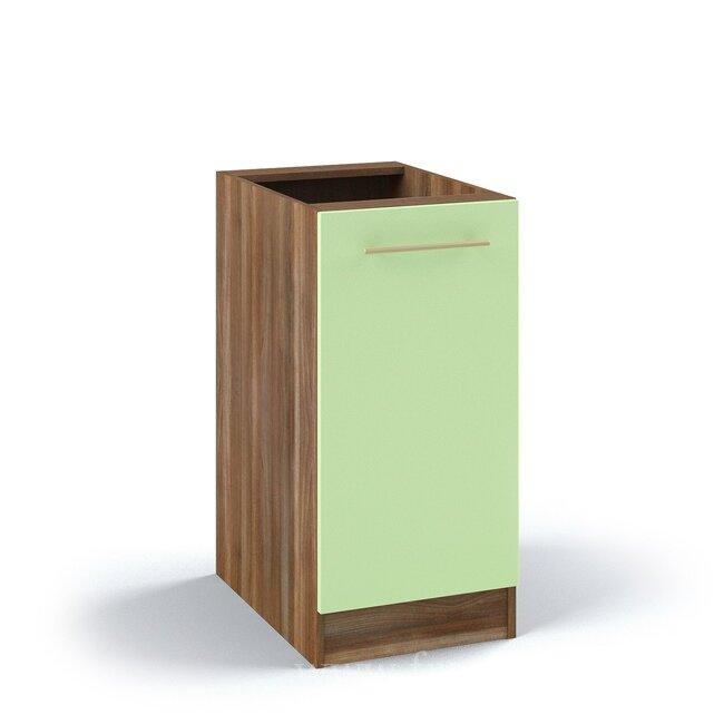 Кухня Арина (Стиль), Стол, С7-40/82 Ноче марино/СалатовыйНоче марино/салатовая<br>Однодверный стол длиной 40 см. Внутри одна горизонтальная полка.<br><br>Цвет корпуса: Ноче марино<br>Цвет фасада: Салатовый<br>Скидка: 54%