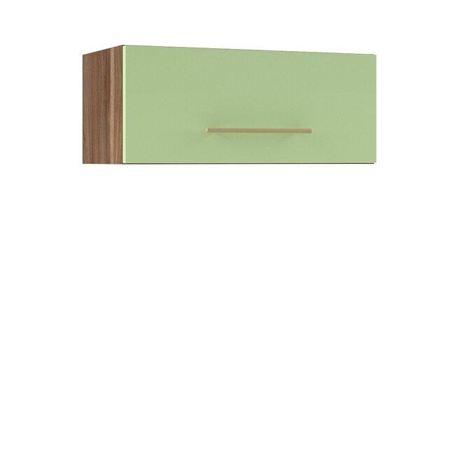 Кухня Арина (Стиль), Полка над вытяжкой, ГМ-60/25 Ноче марино/СалатовыйНоче марино/салатовая<br>Полка над вытяжкой длиной 60 см.<br><br>Цвет корпуса: Ноче марино<br>Цвет фасада: Салатовый<br>Скидка: 50%