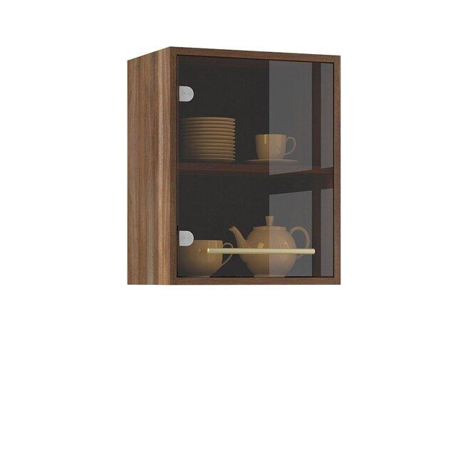 Кухня Арина (Стиль), Витрина, Г-40/50 Ноче марино/СалатовыйНоче марино/салатовая<br>Единственная витрина в данной кухонной системе. Длина 40 см. Можно рядом располагать две витрины.<br><br>Цвет корпуса: Ноче марино<br>Цвет фасада: Салатовый<br>Скидка: 50%