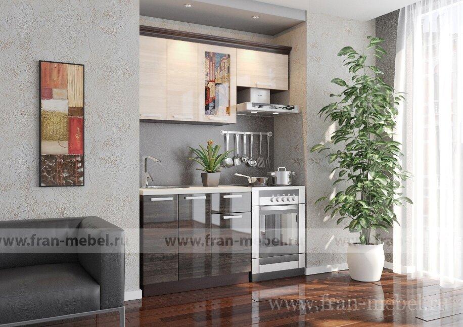Кухня Венеция 1 (Дриада)Ясень глянец/серый глянец<br>Венеция 1 — полнофункциональная кухня, скомплектованная всеми необходимыми кухонными блоками. Компактная модель разработана специально для небольших кухонь размером 6-9 кв/м. Фасады изготовлены по новейшей итальянской технологии глубокой переработки МДФ на самом современном оборудовании.<br><br>Оригинальный рисунок витражей кухонь Венеция, разработанный дизайн-студией XXI Век, выполнен в стиле Тиффани, нанесен в соответствие с современными технологическими и экологическими требованиями и защищен от выгорания. Во всех кухнях серии есть выдвижные ящики, сконструированные по современной технологии метабокс – ящики легко и полностью выдвигаются, обеспечивается удобный доступ к содержимому. Такая конструкция выдвижного ящика значительно увеличивает срок его эксплуатации.<br><br>Корпуса из ЛДСП в цвете — венге.<br>Фасады из МДФ в цвете ясень бежевый глянец, серый глянец.<br><br>В стоимость входит: два стола, три полки, ручки.<br>Дополнительный подарок к данной кухне — полка для специй, карниз и сушка с поддоном!<br><br>Скидка: 40%
