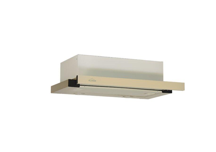 Кухонные вытяжки, Воздухоочиститель Интегра Glass на 600Кухонные вытяжки<br>Корпус вытяжки выполнен из нержавеющей стали, а выдвижная панель оформлена планкой из черного или белого стекла, что позволяет вытяжке отлично сочетаться с самой популярной техникой в том же исполнении. Так же выдвижная панель значительно увеличивает зону всасывания над рабочей поверхностью, тем самым повышая эффективность удаления загрязненного воздуха. Вытяжка Интегра без труда монтируется в шкаф над плитой, позволяя сохранить больше пространства на кухне. Высокая надежность и низкая цена позволили модели ИНТЕГРА занять лидирующие позиции на рынке.<br>