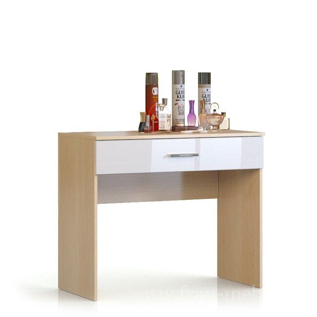 Николь, Туалетный столик, СВ-550Дуб кремона/белый глянец<br>Компактный и стильный туалетный столик с выдвижным ящиком для хранения косметики и средств личной гигиены.<br>