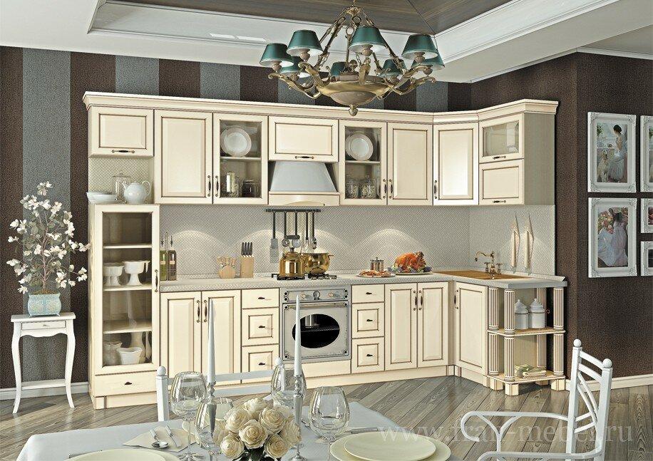 Кухонная система Барбара ЛюксСлоновая кость (патина)<br>Дизайнеры мебельной фабрики «ФРАН», приложили максимум усилий, чтобы разработать еще больше универсальную и стилизованную кухню. Новая система будет хорошо смотреться как в квартире, так и загородном доме. Вся кухня, включая фрезерованные фасады из МДФ, выполнена в цвете Слоновая кость с добавлением современной технологии нанесения патины (технология искусственного старения), благодаря добавлению рельефных стекол кухня стала выглядеть более гармонично и изящно.<br>Выполняется в цвете: корпус — дуб кремона, фасад МДФ патина — слоновая кость.<br>Ручки продаются отдельно в разделе «Дополнительные элементы»!<br>