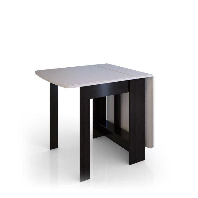 Стол-книжка Сибирь-Б (Амели)Столы<br>Функциональные возможности стола трансформируемого позволяют применять его в качестве журнального столика в гостиной, а так же вместительного кухонного стола. Отличительная особенность стола в том, что можно увеличить размер столешницы как на одну секцию, так и на две.<br><br>Цвет корпуса: Венге магия<br>Цвет фасада: Дуб выбеленный<br>Скидка: 40%