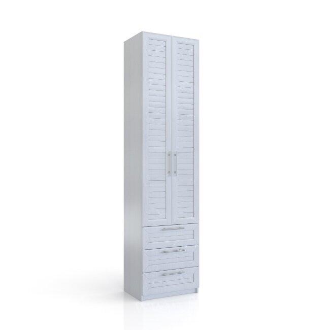 Эстель, Шкаф 3 ящика, СВ-401Вудлайн кремовый<br>Шкаф с отделением для одежды и выдвижными ящиками.<br>