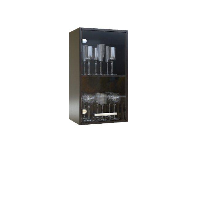 Кухня Стиль Арина, Витрина, Г-40/72 Дуб феррара/Бежевый песокДуб феррара/бежевый песок<br>Единственная витрина в данной кухонной системе. Длина 40 см. Можно располагать две витрины рядом.<br>