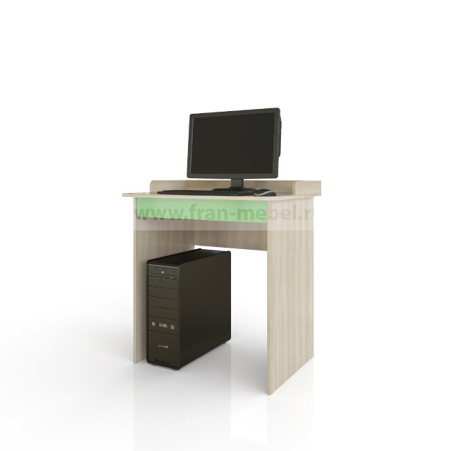 Жили-были, Стол письменныйДуб сонома/зеленый<br>Письменный стол с удобным бортиком, чтобы ничего не упало. Под столешницей выдвижной ящик для хранения карандашей, ручек и тетрадок.<br>