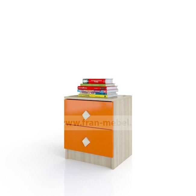 Детская Жили-были (Андрея), Тумба Жили-были (Андрея) дуб сонома/оранжевыйДуб сонома/оранжевый<br>Небольшая тумбочка с двумя выдвижными ящиками.<br><br>Цвет корпуса: Дуб сонома<br>Цвет фасада: Оранж<br>Скидка: 40%