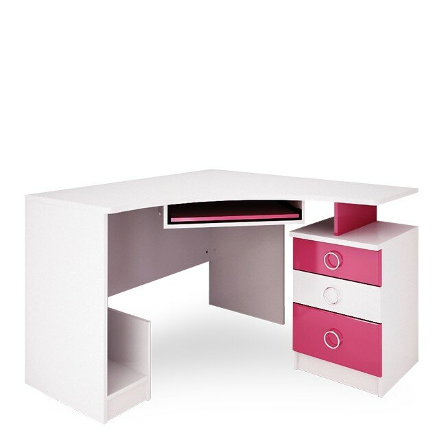 Детская Ниагара (Прованс), Стол компьютерный СВ-353 Ниагара (Прованс) розовыйДля девочек<br><br><br>Цвет корпуса: Белый<br>Цвет фасада: Розовый<br>Скидка: 28%