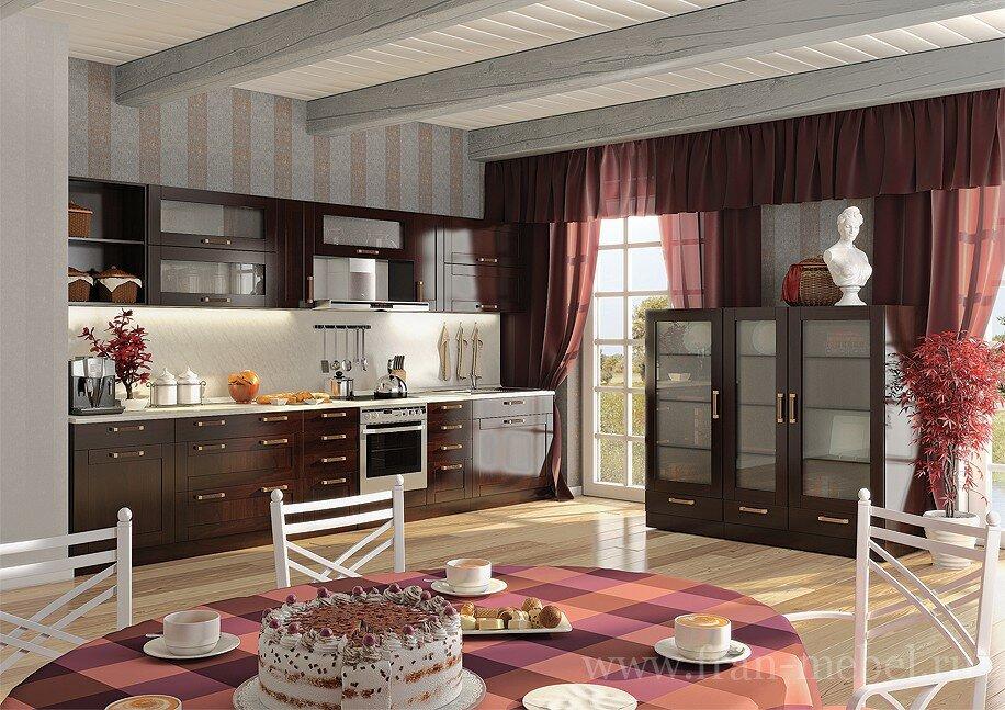 Кухонная система Катрин Шейкер (Лара)Орех<br>Данный вариант предназначен для людей любящих классику в мебели и, в то же время, желающих не отставать от современных тенденций. Крашенные фасады из массива и шпона бука и матовые витрины способствуют неповторимому наслаждению новым интерьером. <br>Выполняется в цвете: <br>корпус — бук тирольский<br>фасады — орех.<br>Ручки продаются отдельно в разделе Дополнительные элементы!<br><br>Скидка: 30%