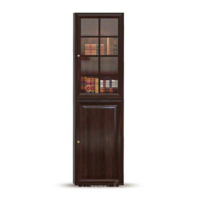 Гавана, Стеллаж-витрина, СВ-315/1Горький шоколад<br>Двери в данном стеллаже-витрине с бесшумным и плавным закрытием.<br>