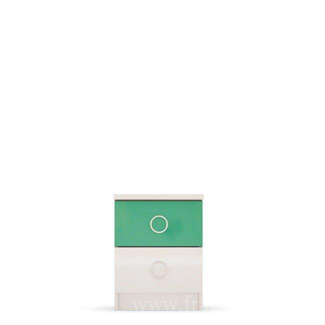 Детская Ниагара (Прованс), Тумба прикроватная СВ-351 Ниагара (Прованс) зелёныйДля всех<br><br><br>Цвет корпуса: Белый<br>Цвет фасада: Зелёный<br>Скидка: 28%