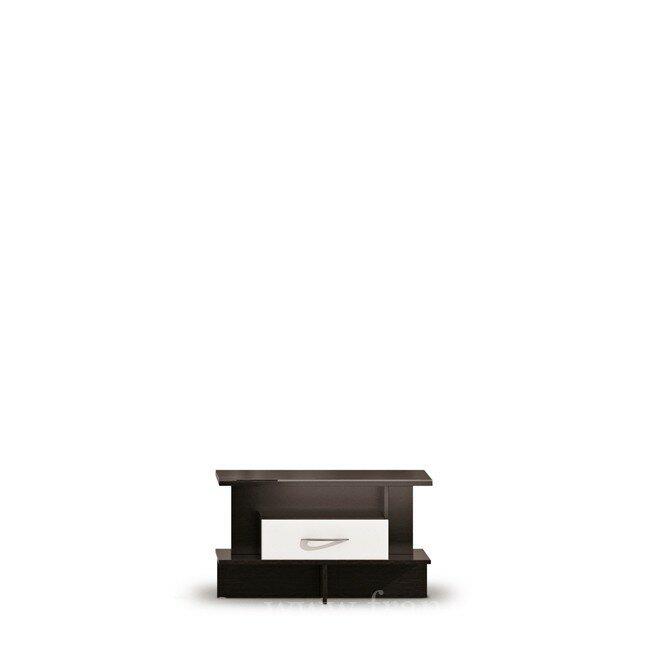 Гостиная Норман, Журнальный столик, СВ-45Шелкография<br>Журнальный столик со стеклянной столешницей, под стеклом элегантная черная шелкография.<br><br>Цвет корпуса: дуб феррара<br>Цвет фасада: белый глянец/черная шелкография<br>Скидка: 50%