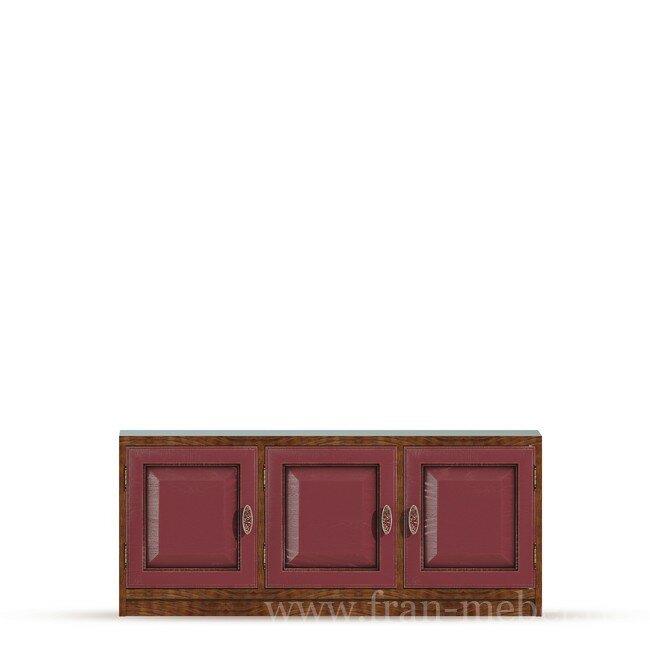 Гостиная Диего (Барокко), Тумба (3 двери) СВ-370 Диего (Барокко) бордо
