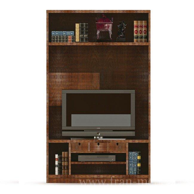 Гостиная Диего (Барокко), ТВ-модуль СВ-361 Диего (Барокко) белый ФРАН Оригинальный ТВ-модуль из шпона ясеня. Отделение для телевизора с диагональю до 46 дюймов.