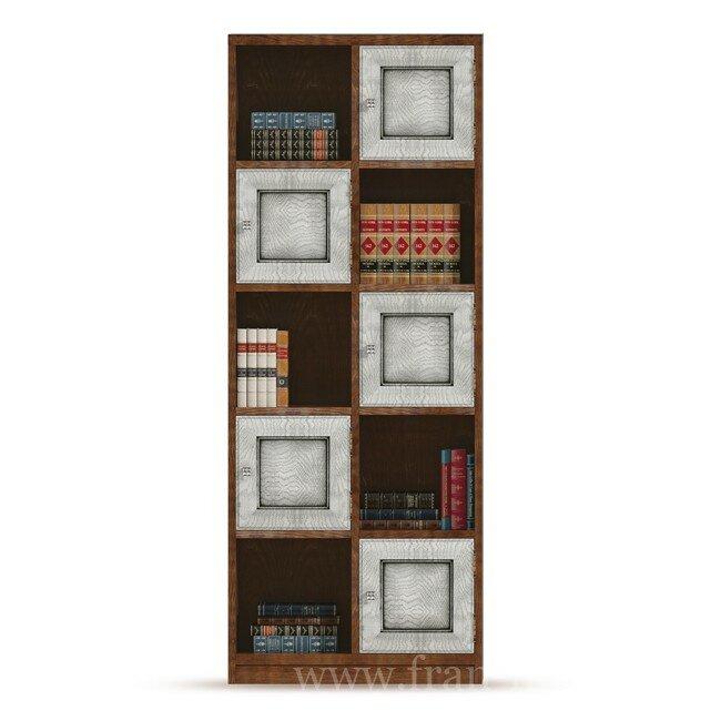 Гостиная Диего (Барокко), Стеллаж СВ-367 Диего (Барокко) белый
