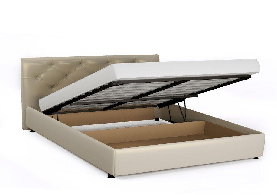 Кровать Монблан (Марсель) с ПМ на 1600 белая