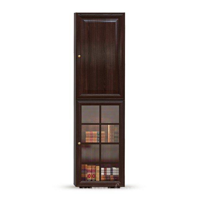 Гостиная Гавана (Лофт), Пенал-витрина СВ-315/3 Гавана (Лофт) шоколад